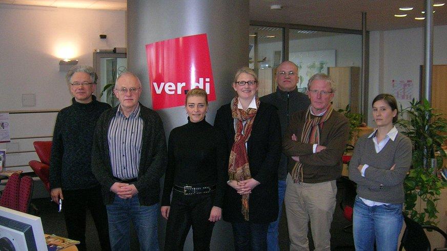 vlnr: Johannes Bartel, Heinz Elwenholl, Eva Holtmann, Stefanie Hemeier, Matthias Hildebrand, Olaf Cantow, Renee de Gronckel