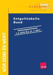 TVÖD Tabellen 2016/17