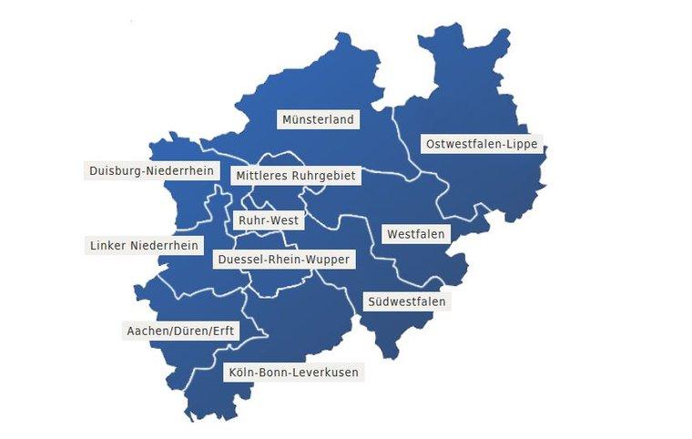 NRW-Bezirke