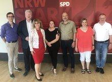 der ver.di AK Justiz und die Vertreter*innen der SPD - Fraktion im Landtag NRW.