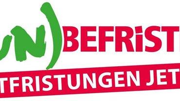 Das ver.di-Logo zur Entfristungskampagne