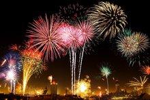 Feuerwerk am Nachthimmel