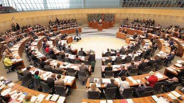 Eine Plenardebatte im Landtag NRW