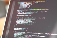 Ein Code auf einem PC-Bildschirm