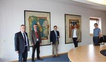 JM Biesenbach und Mitglieder des ver.di-AK Justiz NRW.