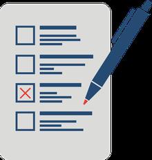 Ein Wahlzettel