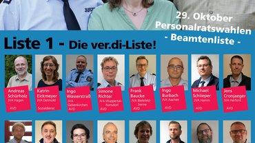 Das HPR-Plakat für die Beamtinnen und Bamten im Justizvollzug NRW.