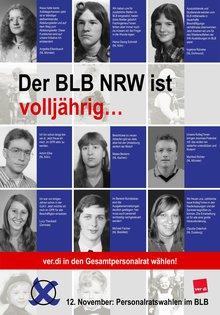 Die erste Seite des Flyers zum BLB NRW