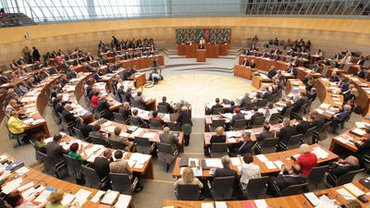 Ein Blick in den Landtag NRW