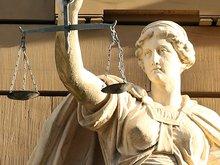 """Das Gesicht der Statur """"Justicia"""""""