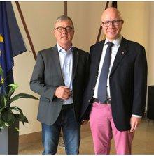 Andreas Gallus und Stefan Adamski, Sprecher des AK Bundesfinanzverwaltung