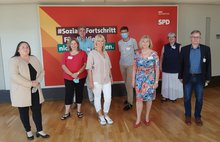 Sonja Bongers MdL und ver.di-Vertreter:innen